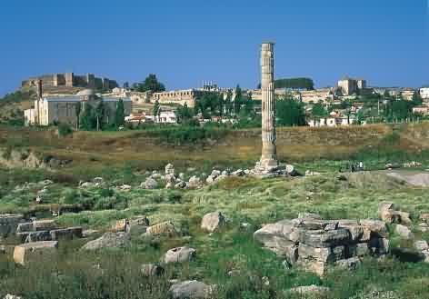 pozůstatky Artemidina chrámu